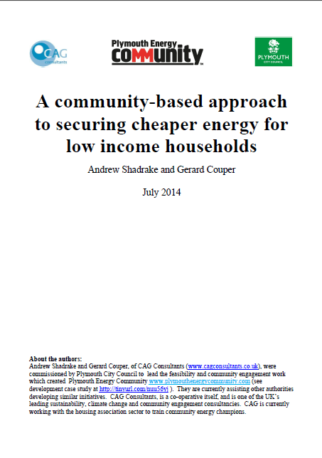 A community-based approach to securing cheaper energy for low income households