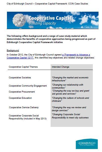 Edinburgh: Towards a cooperative city (case studies)